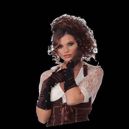 Long Brown Steampunk Gloves