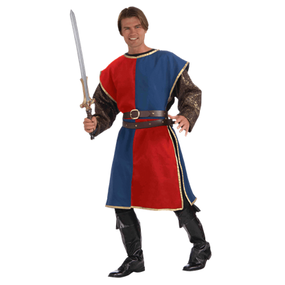 Blue and Red Medieval Costume Tabard