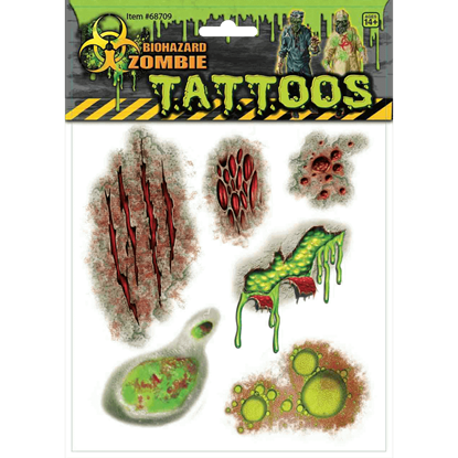 Biohazard Zombie Scar Tattoos