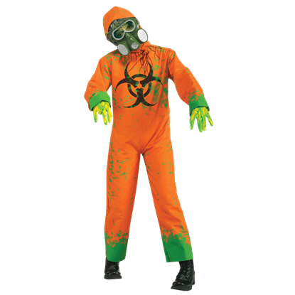 Child's Orange Biohazard Zombie Jumpsuit
