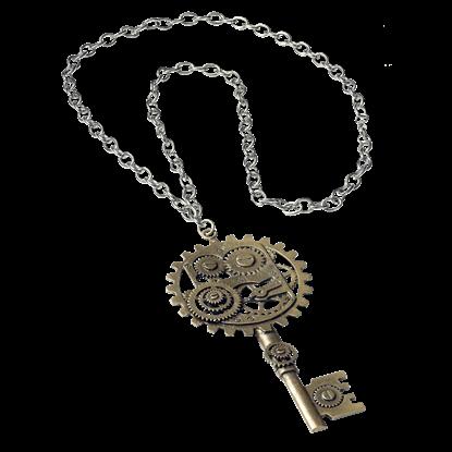 Steampunk Key-Gear Necklace