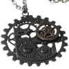Dark Metal Steampunk Gear Necklace