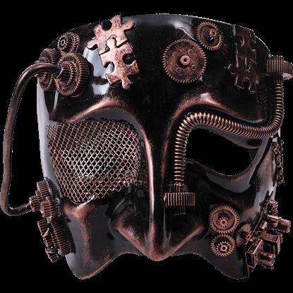 Mens Bronze Steampunk Half Mask