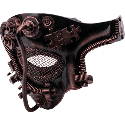 Bronze Steampunk One Eye Mask