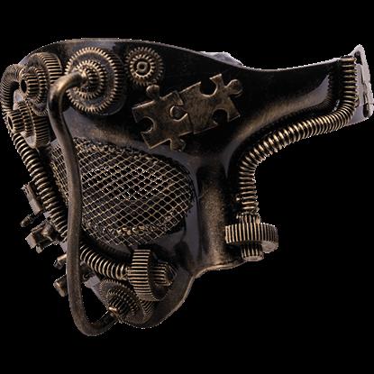 Golden Steampunk One Eye Mask