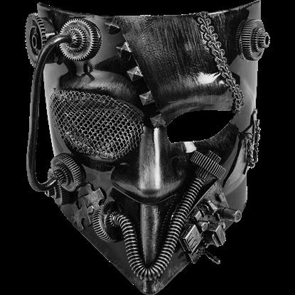 Silver Steampunk Jester Mask