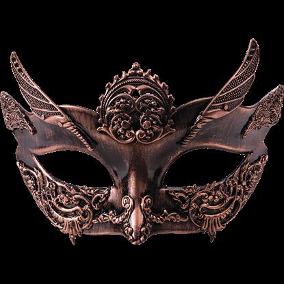 Ladies Bronze Steampunk Half Mask