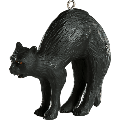 Black Cat Halloween Horror Ornament