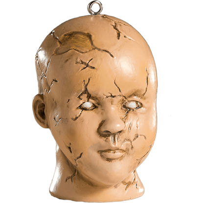 Doll Head Horror Ornament