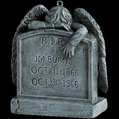 Angel Tombstone Horror Ornament