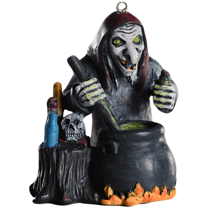 Cackling Witch Horror Ornament
