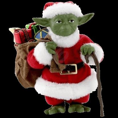 Star Wars Fabriche Santa Yoda Statue