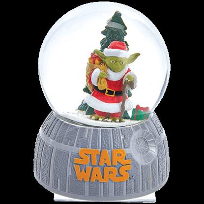 Star Wars Musical Santa Yoda Water Globe
