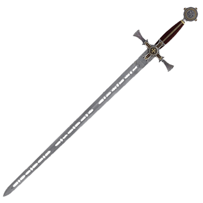 Damascened Templar Knight Sword by Marto