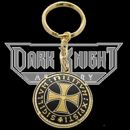 Damascene Templar Cross Keychain by Marto