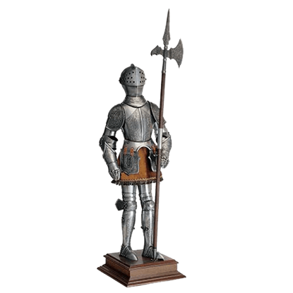 Miniature 16th Century Spanish Armor with Halberd by Marto