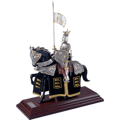 Mounted French Knight of King Richard the Lionheart Statue by Marto