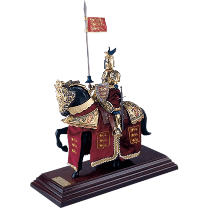 Mounted English Knight of King Richard the Lionheart Statue by Marto