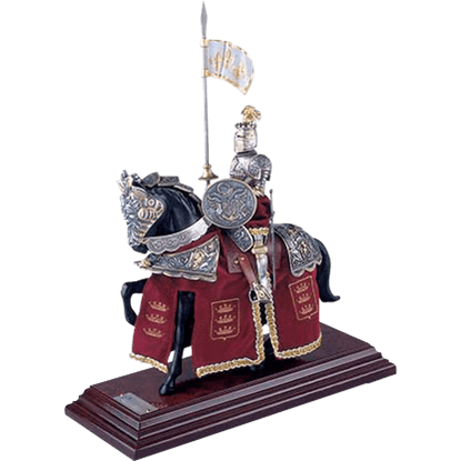 Mounted French Knight of King Arthur Statue by Marto