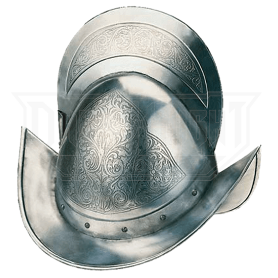 Engraved Spanish Round Morion Helm by Marto