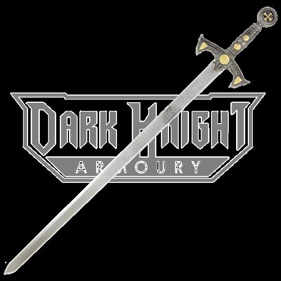 Knights Templar Sword with Plaque