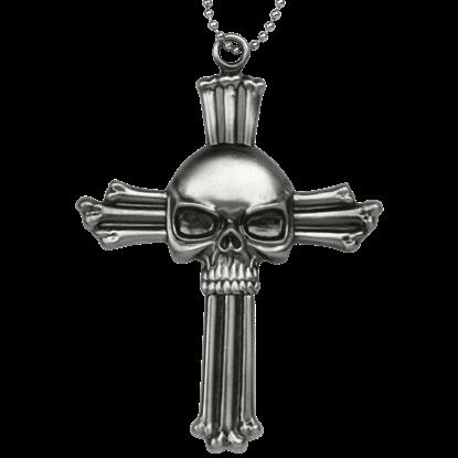 Skull Cross Neck Knife