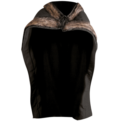 Bjorn Fur Trimmed Cape
