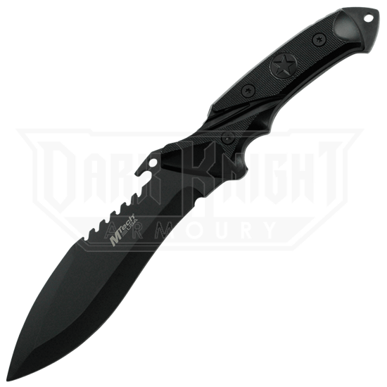 Black Tactical Drop Point Knife