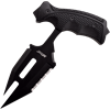 Split Black Push Dagger