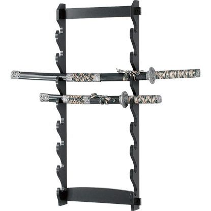 8 Tier Wall Mounted Sword Rack