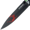 Black Skull Fold Out Knife