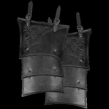 Celtic Mantikor Leather Tassets