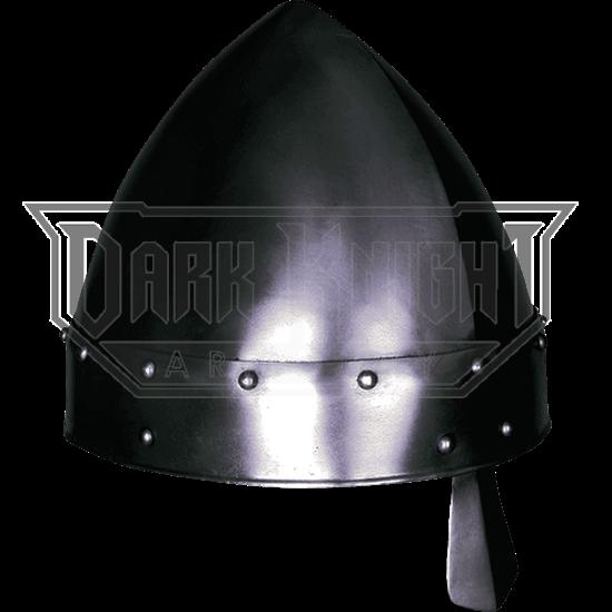 Baldric Darkened Norman Helmet