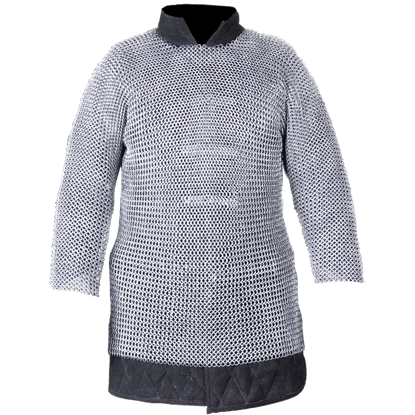 Berengar Long Sleeve Steel Chainmail Hauberk