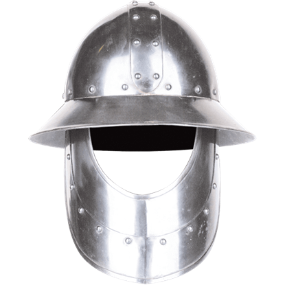 Steel Kettle Hat with Face Armour