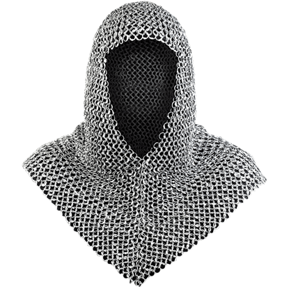 Richard Riveted Steel Chainmail Coif