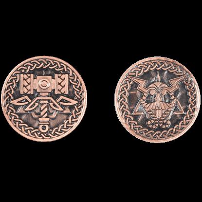 Set of 10 Copper Viking LARP Coins