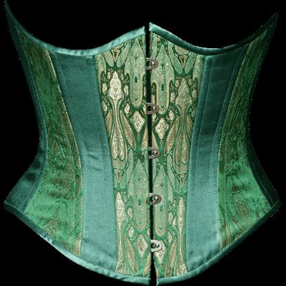 Emerald Brocade Underbust Corset
