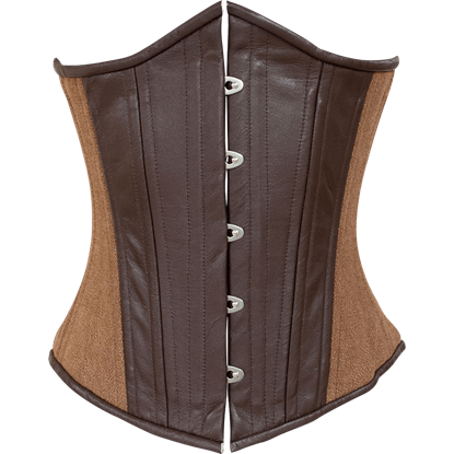 Brown and Tan Steampunk Underbust Corset