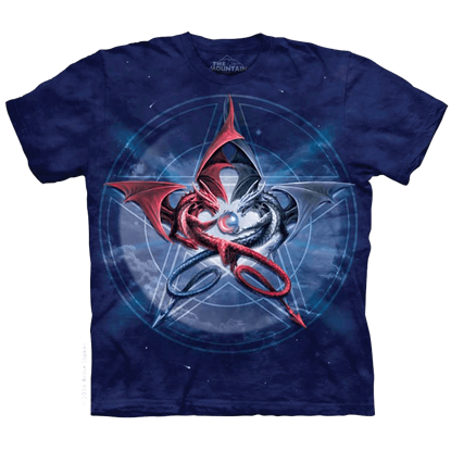 Anne Stokes Pentagram Dragons T-Shirt