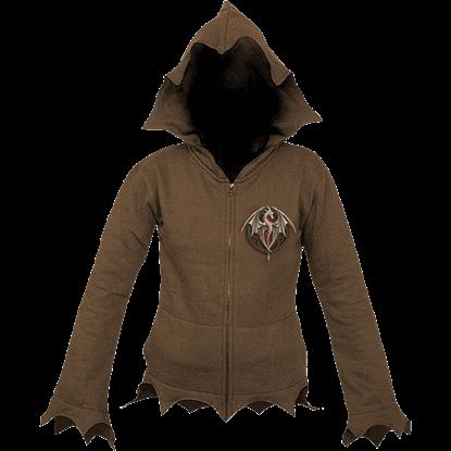 Altar Drake Womens Gothic Zippered Jacket