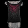 Blood Rose 2-in-1 Womens Mesh T-Shirt