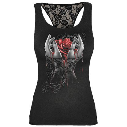 Hands of Sorrow Lace Back Womens Top