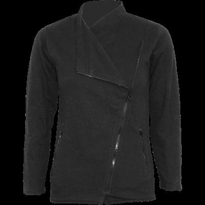 Womens Metal Streetwear Slant Zip Jacket
