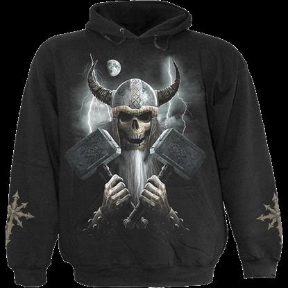 Celtic Warrior Gothic Hoodie