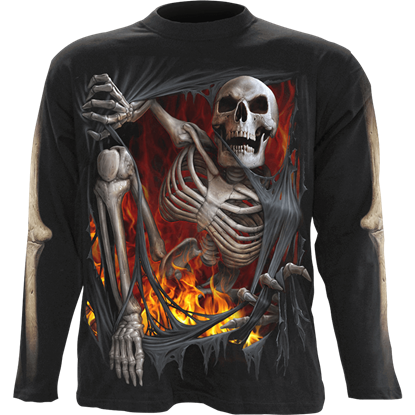 Death Re-Ripped Mens Long Sleeve T-Shirt