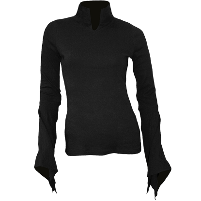 Gothic Womens High Neck Long Sleeve Shirt
