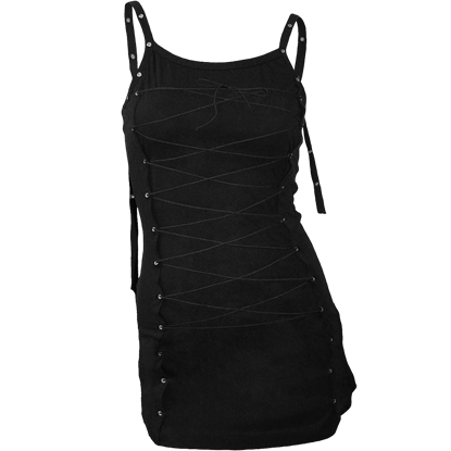 Gothic Womens Laced Up Long Camisole Top