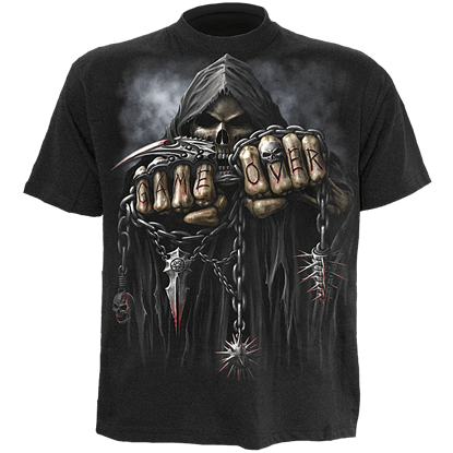 Game Over Mens Black T-Shirt
