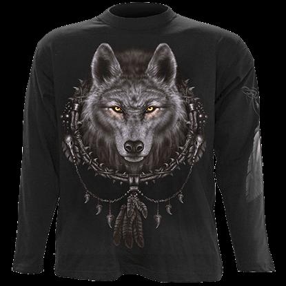 Wolf Dreams Mens Long Sleeve T-Shirt